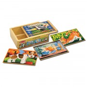 Melissa & Doug Pets Puzzles In A Box - Brown - 3790