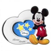 cornice portafoto in argento mickey mouse 13x11 cm cuore