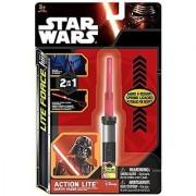 Star Wars Series 7 Lightsaber (Light Saber) Clip-On Action Lites; Complete Set of All Three Lights--Yoda Darth Vader & Luke