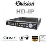 NVR rekordér HD IP pro 16/20 kamer 1080p / 720p + 4TB HDD