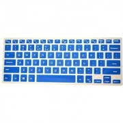PcProfessional Blue Ultra Thin Silicone Gel Keyboard Cover for Dell Inspiron 14 3000 series 14 Laptop with Application