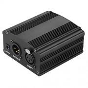 Condenser Microphone Phantom Power - TOOGOO(R)1CH 48V Phantom Power Supply For Condenser Microphone Black