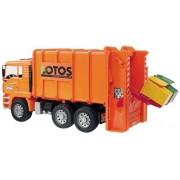 Bruder 02762, Camion trasporto rifiuti MAN TGA in scala 1:16, colore: Arancione