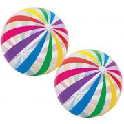"""Intex Jumbo Inflatable Glossy Big Panel Colorful Giant Beach Ball 42"""" #59065 Color May Vary"""
