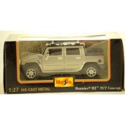 Maisto - Special Edition - 2000 - Hummer H2 SUT Concept - Silver - 1:27 Scale - Die Cast Metal - RARE - Out of Prodution - Limited Edition - Collectible by Maisto