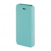 Husa Booklet Lumi Dots iPhone 5/5S, Verde/Alb