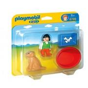 Playmobil 6796 Girl with Dog, Food Bowl & Basket
