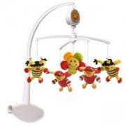 Музикална въртележка за кошарка Калинки и пчелички - 1320 Babyono, 9070159
