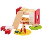 Hape - Childrens Room Wooden Doll House Furniture