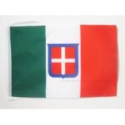 Drapeau Royaume D?Italie 1861?1946 45x30cm - Pavillon Royaume De Sardaigne 30 X 45 Cm Haute Qualité