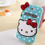 Hello Kitty Silicone With Pendant Soft Silicone Back Case Cover For Samsung Galaxy Note 2 N7100