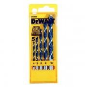 DEWALT DT4535 Coffret de 5 mèches à bois 3 pointes 4, 5, 6, 8, 10 mm