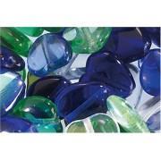 Gütermann / KnorrPrandell 2202044 - Cuori di vetro, confezione 15 gr., colore: Verde-Blu