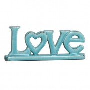 Escultura Love Azul Turquesa