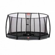 Berg InGround Trampolin Champion Grey 330 + Sicherheitsnetz Deluxe 380cm