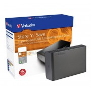 Verbatim Externe 3,5 Festplatte mit 2 TB, USB 3.0 + Nero Back IT UP Software