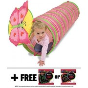 Bella Butterfly Crawl Tunnel: Sunny Patch Outdoor Play Series + FREE Melissa & Doug Scratch Art Mini