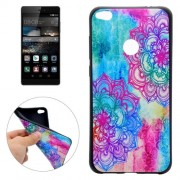 Huawei P8 Lite (2017) Bright Flower Pattern Soft TPU Protective Case