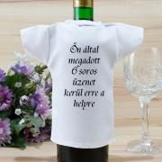 Borosüveg póló felirattal