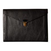 COACH Crosby Box Grain Leather New Portfolio Bag Black