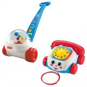 Fisher Price Brilliant Basics Corn Popper With Chatter Telephone