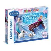 Clementoni 29712 - Puzzle 104 Pezzi Glitter Frozen