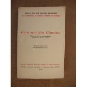 Caro Mio Don Giacomo. Réflexions, Notes De Voyages, Portraits, Paradoxes Et Maximes Morales.
