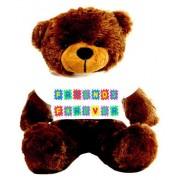 Brown 2 feet Big Teddy Bear wearing a Friends Forever T-shirt