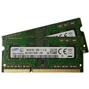 Samsung 8GB kit ( 2 x 4GB ) 204-pin SODIMM DDR3 PC3L-12800 1600MHz ram memory module ( M471B5173EB0-YK0 x 2 )
