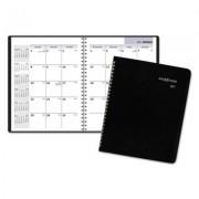 Monthly Planner, 6 7/8 X 8 3/4, Black, 2017