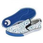 Osiris Skate Shoes / Slip-On Scoop White / Blue / Foundation Moons - 1B Goods, shoe