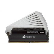 Corsair CMD128GX4M8A2400C14 Dominator Platinum Kit di Memoria da 128 GB, 8x16 GB DDR4, 2400 MHz, CL14 XMP 2.0 Enthusiast, Nero