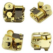 Gold Plating 18 Note Musical Movement---different Tunes Available (Tune is Edelweiss)