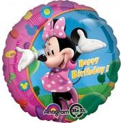 """Amscan International - Palloncino di Minnie con scritta inglese """"Happy Birthday"""""""