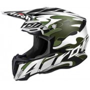 Airoh Twist Mimetic Casco di motocross Bianco/Verde
