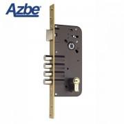 Cerradura de seguridad para embutir AZBE 8912 Dorado, 80x50