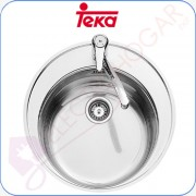Fregadero Teka Centroval 1C Acero inoxidable 18/10, profundidad 180mm,