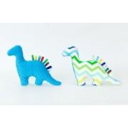 Hračka minky Dino cik cak modrá