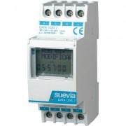Suevia DIN sínes digitális heti időkapcsoló óra, 1 áramkör, 250V/16A, 50 program, DATA Log I (128878