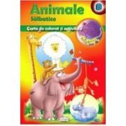 Animale salbatice - Carte de colorat si activitati