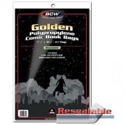 Golden Resealable Comic Book Bags x 100 per pack