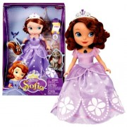 "Mattel Year 2012 Animated DVD Series ""Sofia the First"" 11 Inch Doll Set - SOFIA with Tiara and Neckl"