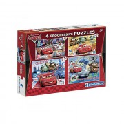 Clementoni - puzzle progressivo cars 20 + 60 + 100 + 180 pz