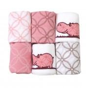 Pamut pelenkák toTs-smarTrike víziló 6 darab 100% természetes pamut rózsaszín