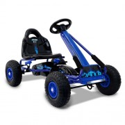 Kids Pedal Powered Racing Go Kart Blue
