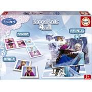 Juegos educativos Educa - Disney superpack 4 en 1, juego de mesa con diseño de Frozen (16144)