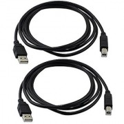 Ocr TM 2 Pack 6 Feet Hi-Speed USB 2.0 Printer Scanner Cable Type A Male to Type B Male For HP Canon Lexmark Epson Dell