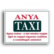 Anya taxi - Tréfás rendszámtábla
