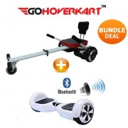 "Hoverkart and 6.5"" Hoverboard Racing White Bundle (GoCruiser)"