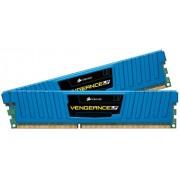 Corsair CML4GX3M2A1600C9B Vengeance Low Profile Memoria per Desktop a Elevate Prestazioni da 4 GB (2x2 GB), DDR3, 1600 MHz, CL9, con Supporto XMP, Blu